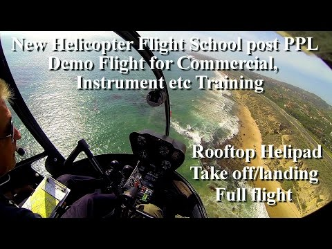 R22 Helicopter new school demo training/instruction flight lesson-post PPL for CPL etc training
