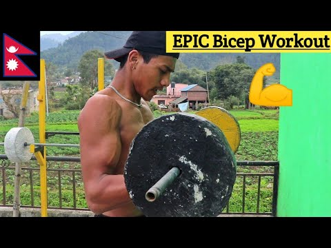 EPIC Bicep Workout | HomeMade Gym | ANISH FITNESS