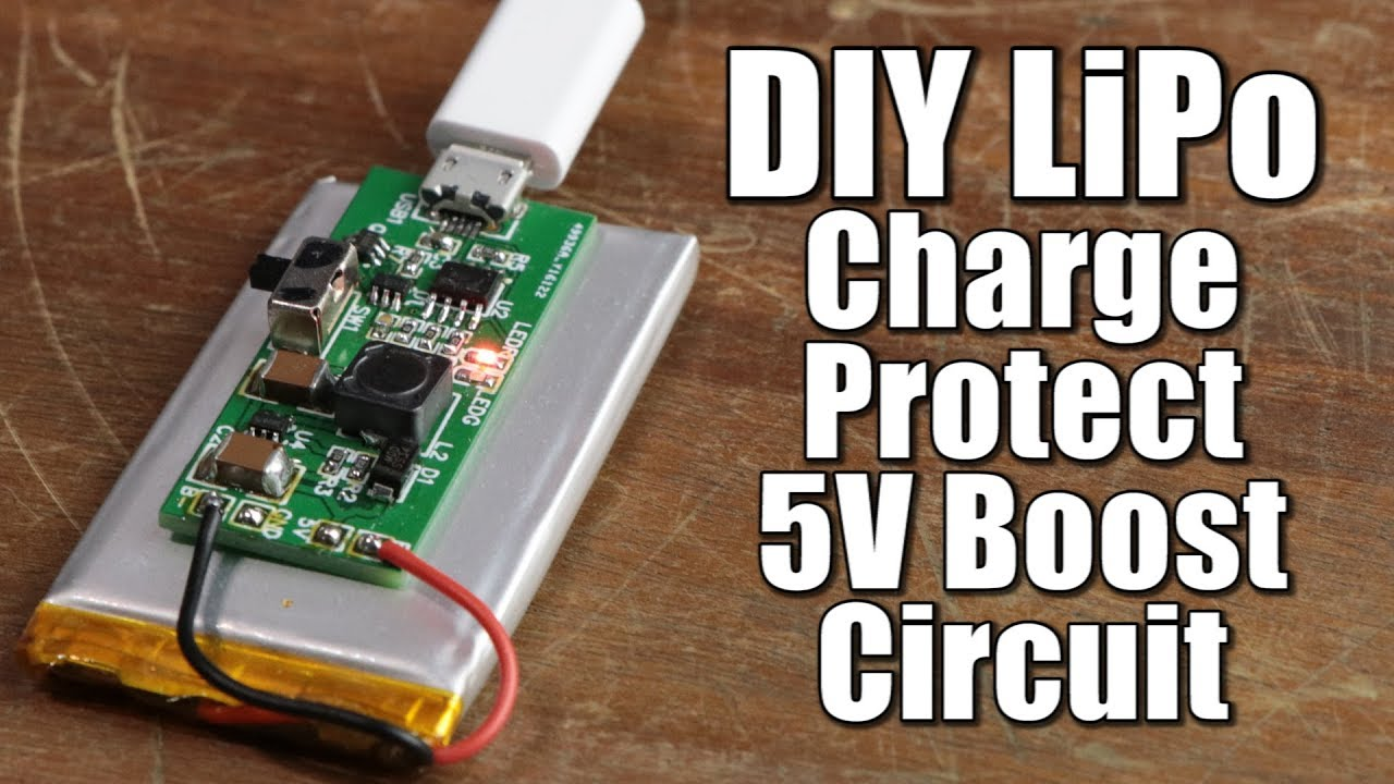Diy Lipo Charge Protect 5v Boost Circuit Youtube Wiring Diagram To Eliminate Battery Save