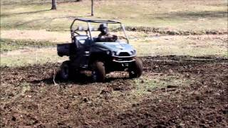 GroundHOG Max Food Plot Disc Behind an Intimidator UTV