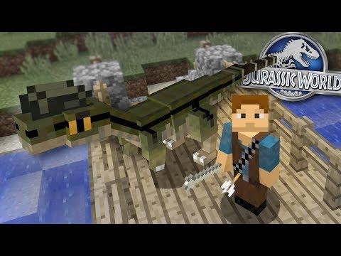 Dinosaurs In Minecraft - Dennis gets BIGGER!   Jurassic World - Ep2