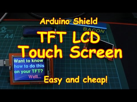 #83 Colour Touch Screen TFT LCD for your Arduino - Cheap & E