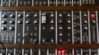 Geiger counter synth module with uranium ore