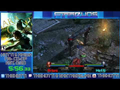 Lara Croft and the Guardian of Light NG+ Co-op in 35:44 by Kotti & Ariwa - FinnRuns