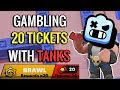 Gambling 20 tickets on Robo Rumble with Double Tank!? Brawl Stars