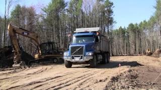 Volvo VHD Dump Truck Dumping Its Load