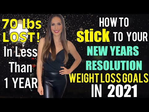 How To Stick To Your New Years Resolution Weight Loss Goals / Plant Based Diet