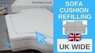Sofa Cushion Replacement Refilling How To Video - Foam, Fibre & Stockinette - UK WIDE SERVICE!