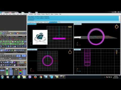 [TUTORIAL]3D JEWELRY DESIGN TRAINING - HOW TO DESIGN HEART RING - HƯỚNG DẪN VẼ 3D NHẪN TRÁI TIM
