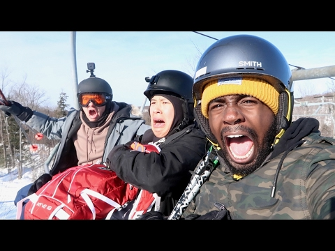BLACK GUY GOES SKIING!! (GONE WRONG)