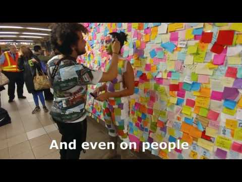 VIDEO: 'Subway Therapy' walls provide much-needed hope for New Yorkers after Trump's election