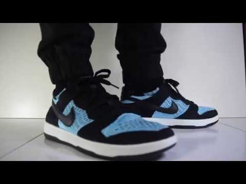 more photos 24ead 16fcd What are Thoze?!? - Nike Dunk Flyknit (Black/Chlorine Blue) On Feet