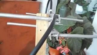 видео Как сделать всеволновую, логопериодическую и дмв антенну для телевизора своими руками