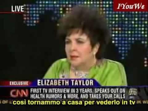 Elizabeth Taylor defends Michael Jackson - Larry King Live (SUB ITA)