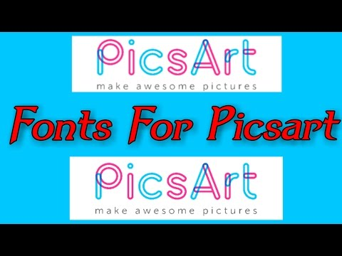 How to download fonts for picsart And how to use fonts in picsart
