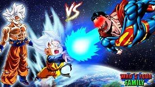 WHO´S YOUR FAMILY - O FILHO DO GOKU INSTINTO SUPERIOR VS O SUPERMAN EXE NO MINECRAFT (HERÓIS)DBZ