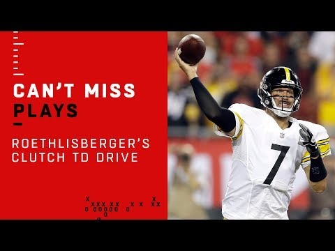 Big Ben Leads Clutch TD Drive w/ Under a Minute Left in the Half