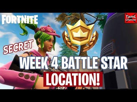 Fortnite: SECRET Week 4 Battle Star Location!