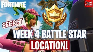 Fortnite: SECRET Week 4 Battle Star Location!