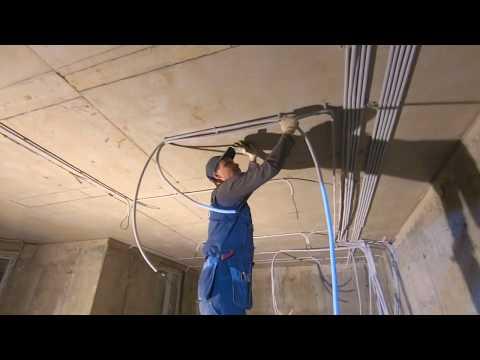 Монтаж электрики частного дома в Мытищах. Выполнение работ по бетону от команды Profem.ru