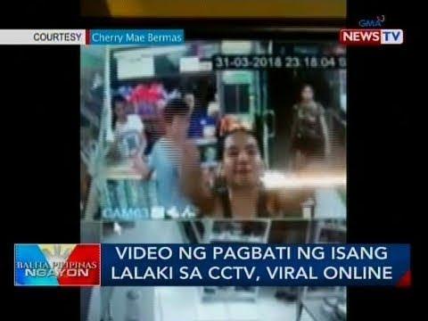 BP: Video ng pagbati ng isang lalaki sa CCTV, viral online