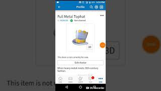 How to get full metal top hat (in Android)