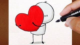 DESENHO Love FÁCIL ✬ VAMOS DESENHAR ✬ Dia Dos Namorados