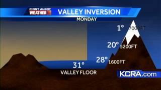Sacramento Valley colder than Sierra foothills