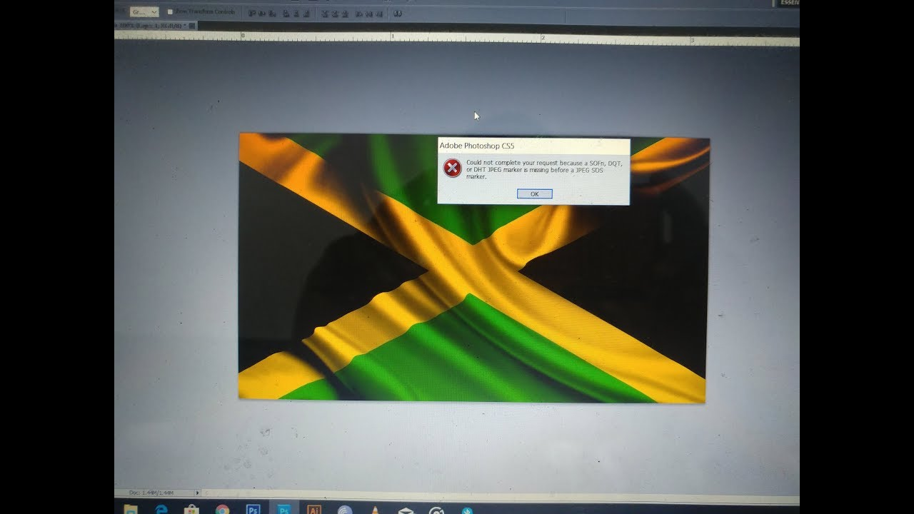 How To Fix Photoshop Error Message Sofn Dqt Or Dht Jpeg Marker Is