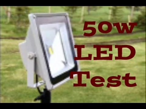 50w watt led smd indoor outdoor flood light brightness test youtube. Black Bedroom Furniture Sets. Home Design Ideas