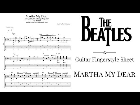 The Beatles - Martha My Dear (Guitar fingerstyle tabs and sheet) FREE
