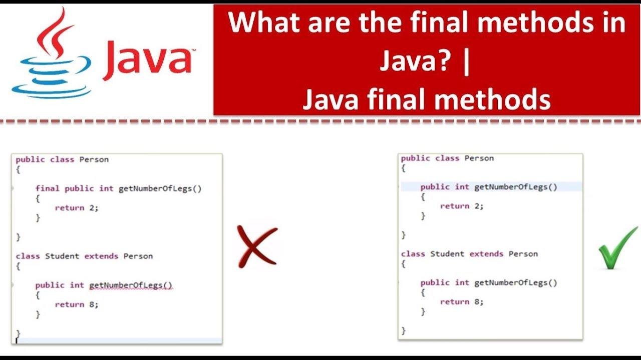 Java tutorial java final methods youtube java tutorial java final methods baditri Gallery