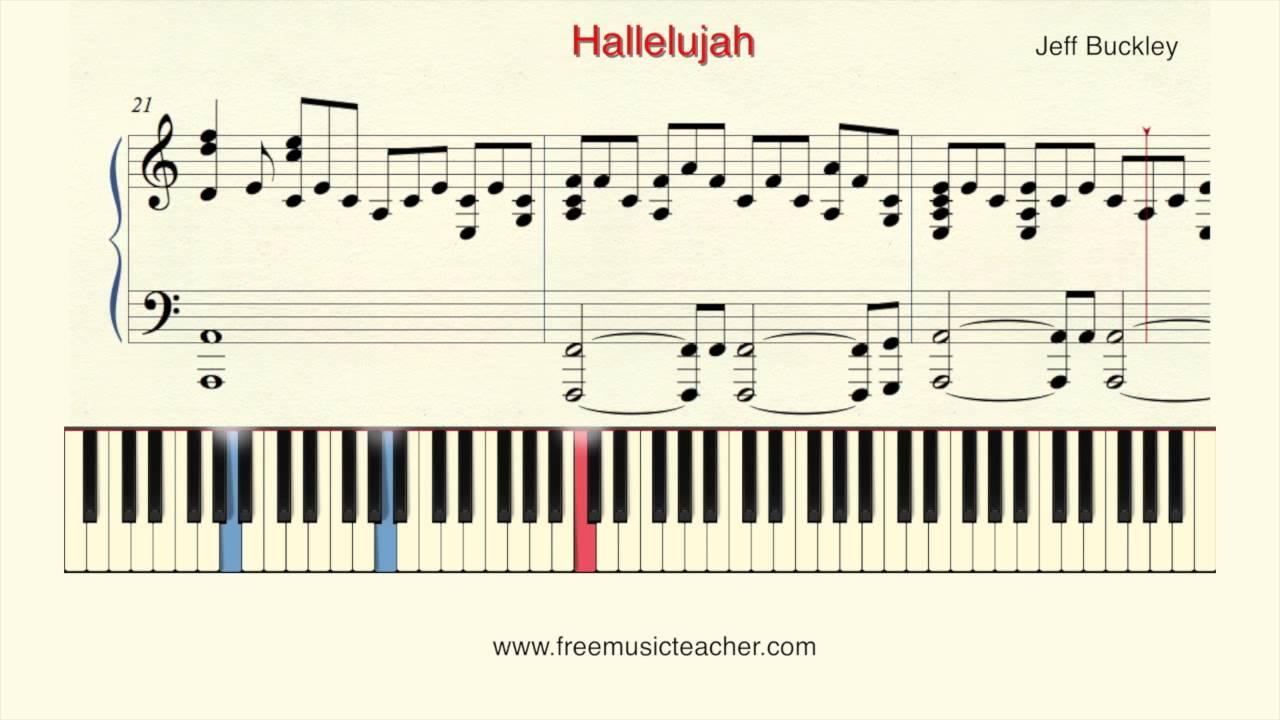 "How To Play Piano: Jeff Buckley ""Hallelujah"" Piano ..."