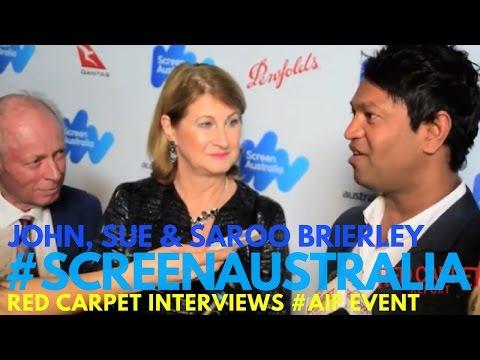 John, Sue & Saroo Brierley #lion at 2017 Australian Oscar Nominees Event #ScreenAustralia #AIF