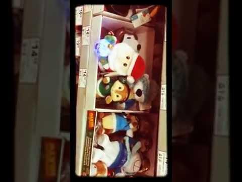 Christmas singing stuffed animals