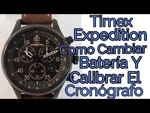 35448c161d81 Reloj Timex Expedition Como Cambiar La Batería Y Calibrar El Cronógrafo  (servicio Timex)