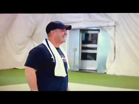 Hard Knocks: Vince Wilfork Wearing Overalls to Practice