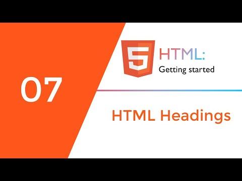 07_HTML Headings