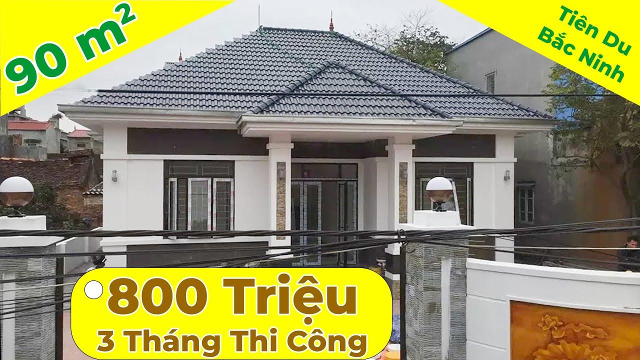 Mẫu thiết kế biệt thự nhà vườn 1 tầng mái thái 90m2 tại Tiên Du – Bắc Ninh