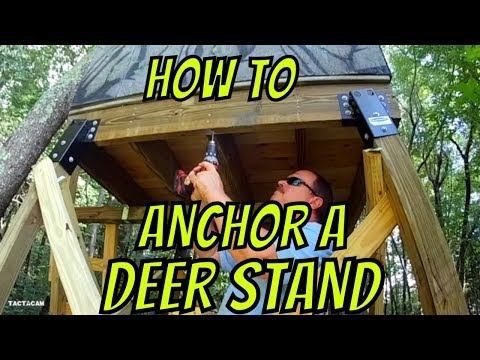 How To Tie Down A Tower Stand Blind