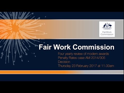 4 yearly review of modern awards – Penalty rates decision issued