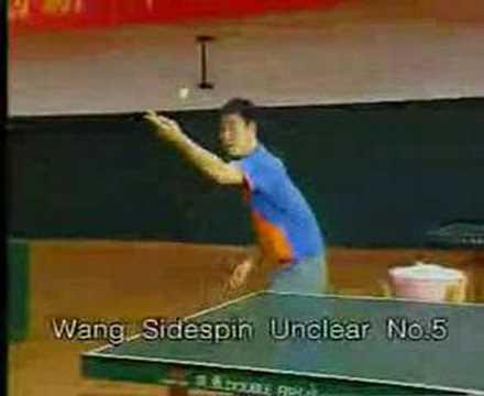 World No. 1 Wang Liqin's Demo Serve