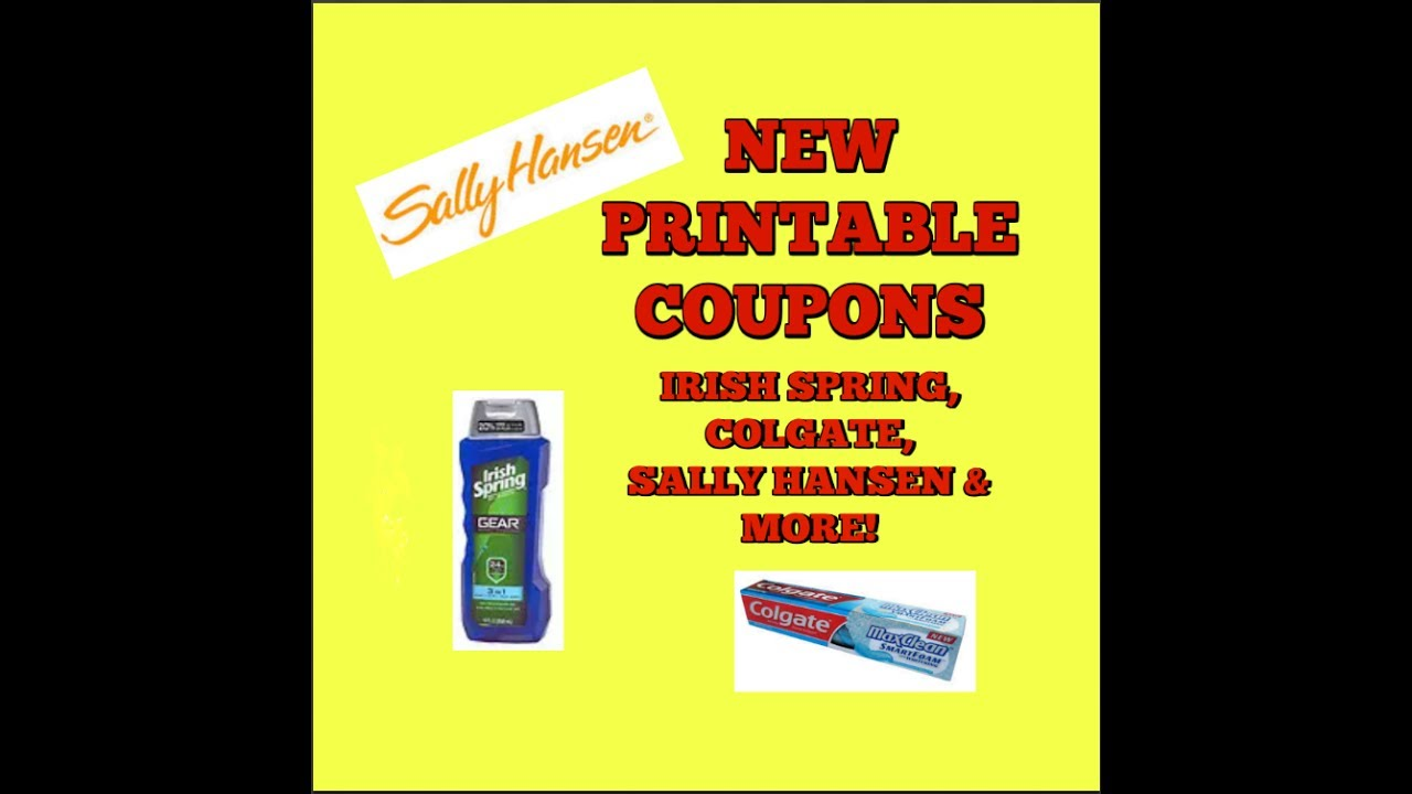 picture relating to Colgate Printable Coupons identify Clean PRINTABLE Discount codes IRISH SPRING, COLGATE, SALLY HANSEN Further more!