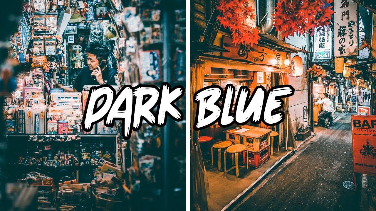 Free Lightroom Mobile Preset DNG - Dark Blue