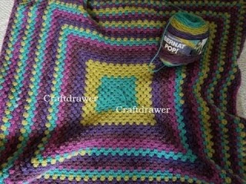 Turning The Corner On A Crochet Granny Square Afghan Pattern Youtube