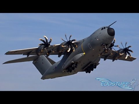 Royal Air Force - Airbus A400M Atlas ZM400 - Amazing Short Takeoff from Split Airport LDSP/SPU