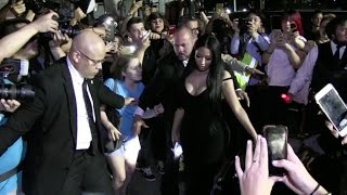 Nicki Minaj creates chaos as she arrives at the Alexander Wang Ready to Wear Fashion Show in New Yor