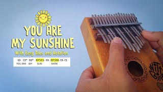 You Are My Sunshine | Witty Birds Kalimba Cover with Easy Tabs and Notation
