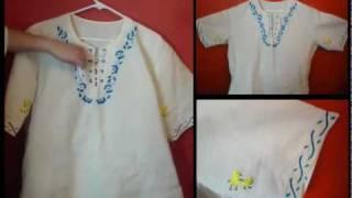Camisas de Manta tipicas de El Salvador hechas a mano