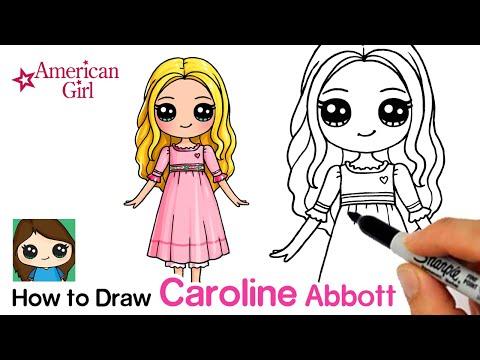 How To Draw Caroline Abbott Easy | American Girl Doll